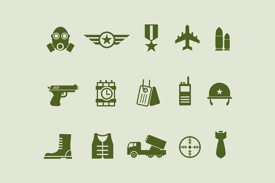15 Army and Military Icons ~ Icons ~ Creative Market 38d647f0e3391