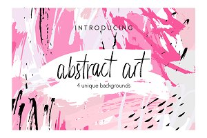 Abstract Art - 4 Backgrounds