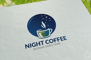 Night Coffee - Logo Template