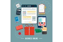 Business online icons