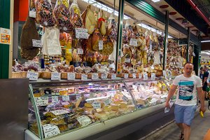 Traditional Italian food market