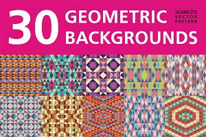 30 Geometric Backgrounds
