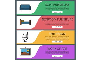Furniture banner templates set