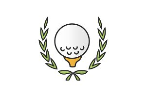 Golf championship color icon