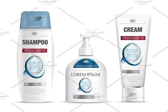 Shampoo Cream Soap Template