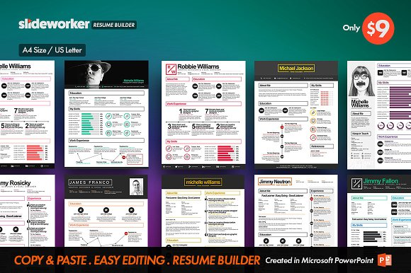 Box ResumeCV Builder Resume Templates on Creative Market – Resume Cv Builder