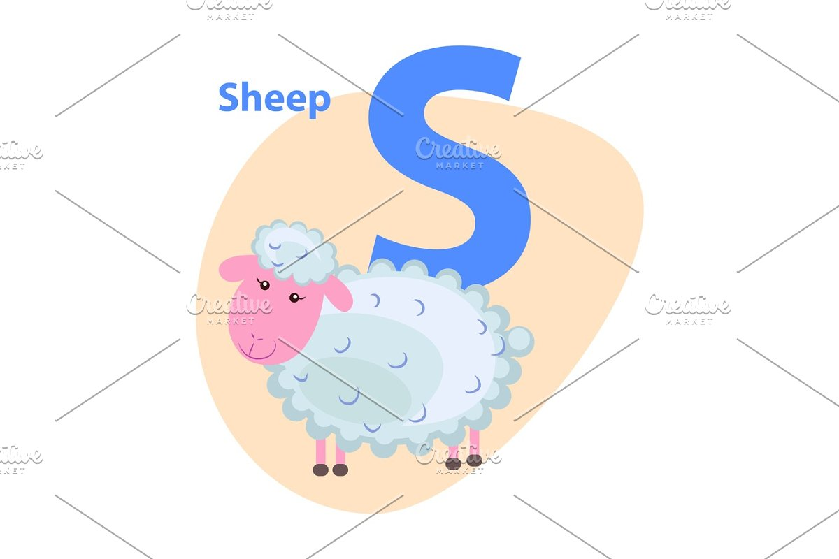 Character S Cheerful Sheep on ABC for Children