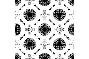Set seamless pattern with white