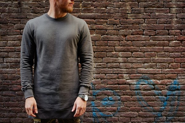 Hipster in blank long sleeve t-shir…