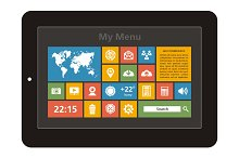 Tablet Interface - Vector Icons Set