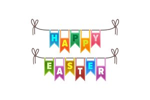 Happy Easter Congratulation Sign Illustration