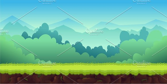 cartoon game background graphics creative market