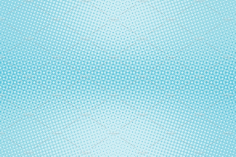 Light Blue Background Pop Art Retro Comic