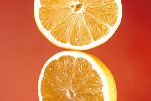 Slice of fresh oranges