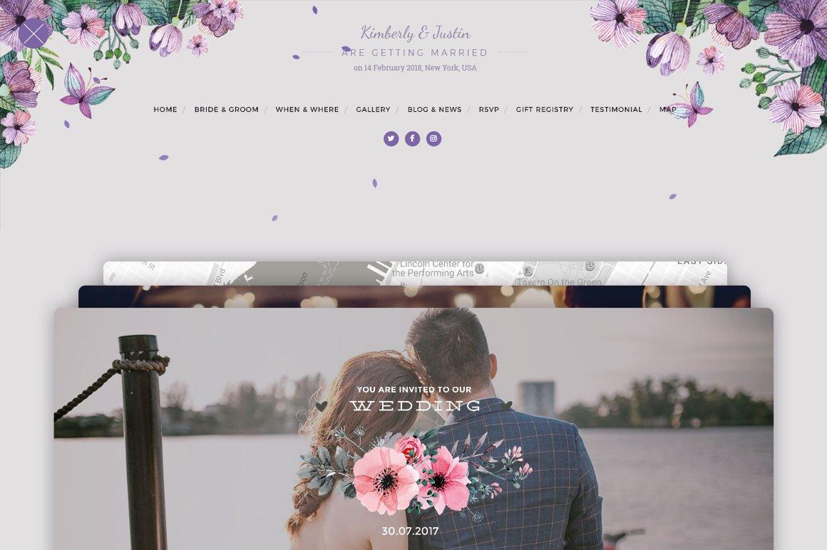 WordPress Wedding Themes ~ Creative Market