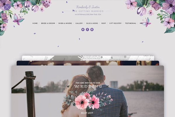 WordPress Wedding Themes - Wedding Card WordPress
