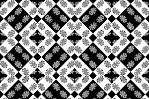 Geometric Modern Baroque Seamless Pattern