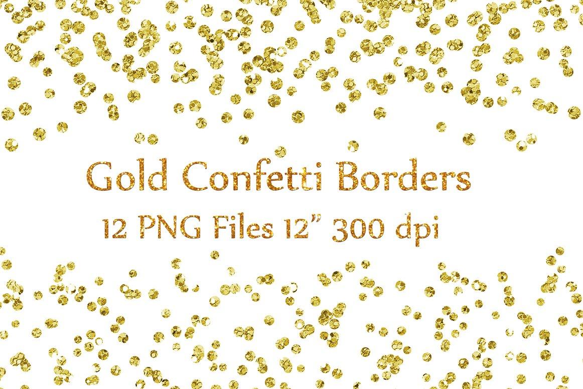 Gold Glitter Confetti borders ~ Textures ~ Creative Market