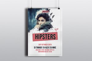 Hipster Party Flyer Template-V543