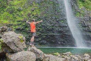 Amazing Hanakapi'ai falls, Hawaii