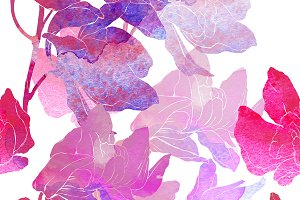 orchid seamless pattern | JPEG