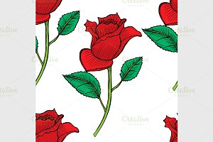vector roses seamless
