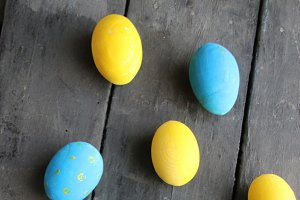 Easter eggs. Festive decoration.