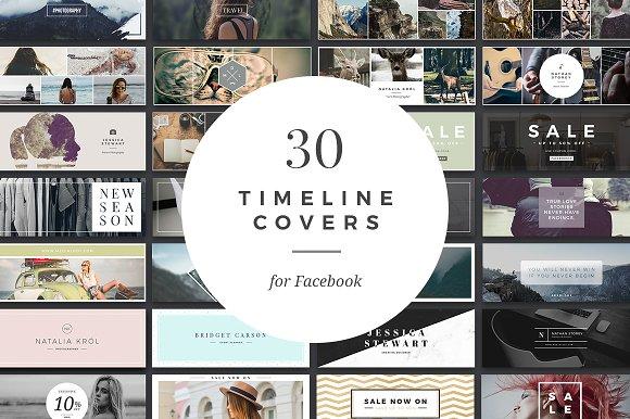 Facebook Timeline Cover Templates ~ Web Elements ~ Creative Market