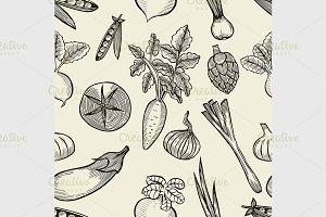 vegetables seamless pattern.
