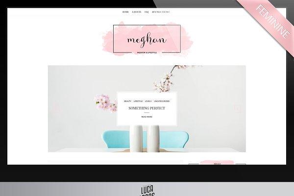 Feminine Wordpress Theme - Meghan