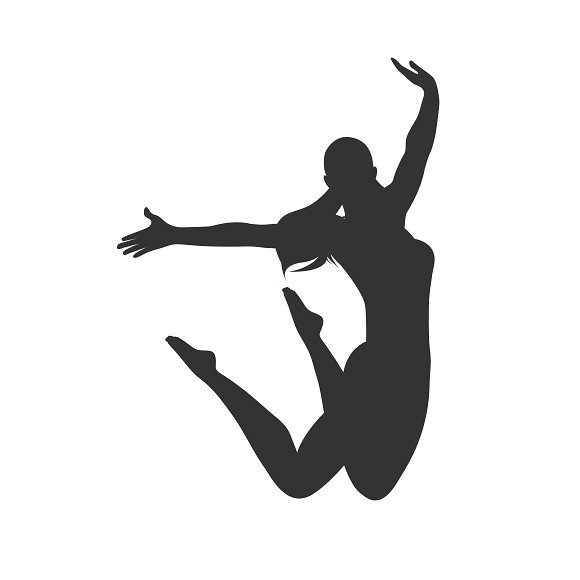 icon of jumping girl, vector