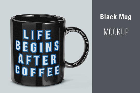 Download Black Mug Mockup