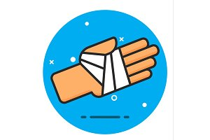 Icon for bandaged hand