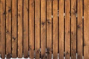 Brown natural massive wood planks