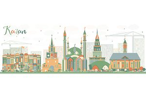 Abstract Kazan Skyline