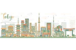 Abstract Tokyo Skyline