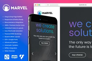 Marvel Vertical Menu WordPress Theme