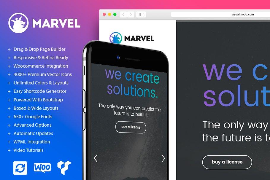 b8709cc256d Marvel Vertical Menu WordPress Theme ~ WordPress Portfolio Themes ~  Creative Market