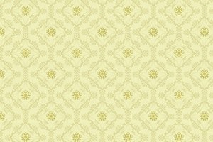 Green Seamless Damask Pattern