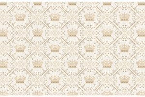 Crown tiles pattern