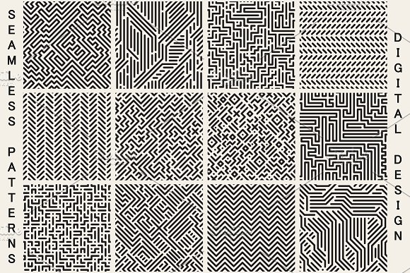 Striped Digital Seamless Patterns