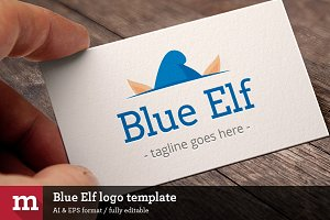 Blue Elf Logo template