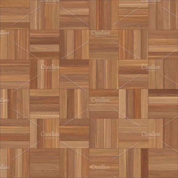 Seamless Wood Parquet Texture Chess Brown