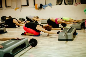 Step and Pump Group fitness