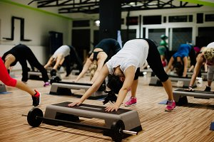 Step and Pump Fitness workout