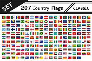 set 207 country flag