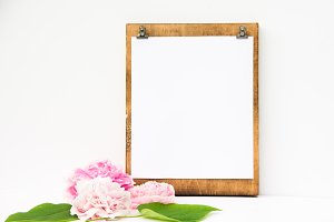 Modern Farmhouse Peonies Clipboard