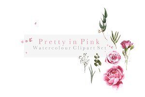 Pretty in Pink - Watercolour Florals