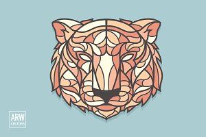 Ornate Lion Head Logo