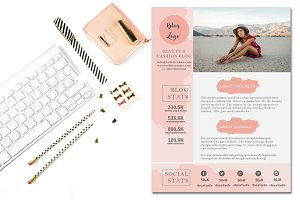 Watercolor Media Kit Template PSD